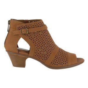 Easy Street Carrigan Cutout Bootie Sandal Tan 7.5